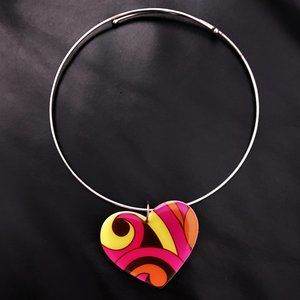 70s Groovy Heart Necklace